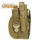 Tactical 1000D Molle Right Hand Pistol Holster Pouch Military Airsoft Hunting CB