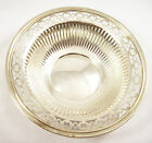 VINTAGE STERLING SILVER RETICULATED NUT/ CANDY DISH, INTERNATIONAL SILVER