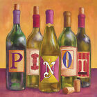 Portfolio Canvas Decor Geoff Allen 'Bottles Pinot' 16x16 Framed Canvas Wall Art