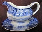 Blue and White Enoch Woods Transferware Woods Ware English Scenery Gravy Boat