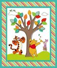 Disney Winnie the Pooh and Friends Tree Large Cotton Fabric Panel