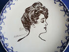 1900/1915  Royal Doulton Gibson Girl Portrait/Heads Series Ware  A~RARE~#2 of 8