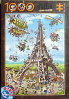 D Toys BUILDING THE EIFFEL TOWER 1000 pc Jigsaw Puzzle Cartoon Collection