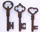 ANTIQUE STYLE  IRON SKELETON KEYS LOT OF 3