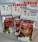 12 SNOWMAN SOUP Toppers Christmas Holiday DIY Favors Party Gifts