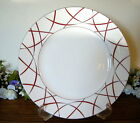 222 Fifth Savoy Red Dinner Plate Holiday Christmas