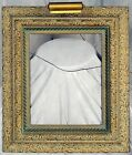 Vintage Ornate Gesso Releif Wood Picture Frame with light