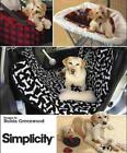 S-2984 Sewing Pattern Uncut Dog Car Seat Shopping Cart Cover Back Seat Cover