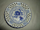Blue and White Cut Out Rose Pattern Lattice Work  6*1/2
