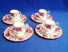 12 PCS ROYAL ALBERT OLD ENGLISH ROSE PLATES CUPS SAUCERS PLATE CUP SAUCER