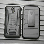 For ZTE Obsidian Z820 Rugged Hybrid Hard Shockproof Case Cover Belt Clip Holster
