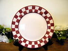 Baum Bros Style Eyes Checker Salad Plates Country Set of 3