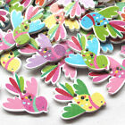 New 10/50/100/500pcs Swallows Wood Buttons Sewing Craft T0801