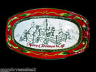 FITZ AND FLOYD ST. NICK MERRY CHRISTMAS TO ALL TRAY APPETTIZER HAND CRAFTED