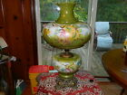 Large Vintage Gone With The Wind GWTW Hand Painted Hurricane Lamp