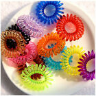 12X Girl Baby Spiral Elastic Rubber Hair Ties Rope Ponytail Holder Bobbles Band