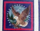 Patriotic American Eagle Cotton Fabric Pillow Panel