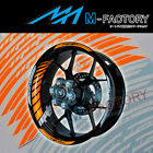 For BMW F800 R ST S megamoto #GP2 Orange Fluorescent Wheel Stripes Rim Sticker