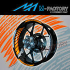 For Suzuki GSX500F GSX750F #GP2 Orange Fluorescent Wheel Stripes Rim Sticker