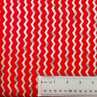 Monster Truck Mania Red and Silver Chevron Cotton Fabric Fat Quarter