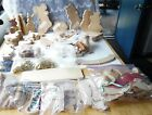 OVER 125 WOOD CUT OUT PIECES UNFINISHED CRAFT LOT VARIETY OF SHAPES SIZES