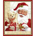 JOLLY OLD ST. NICK #3265 SANTA HOLIDAY CRAFT PANEL COTTON QUILT TREASURES FABRIC
