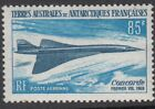 AIRCRAFT1969 FRENCH ANTARCTICA Concorde First Flight SG53 MNH