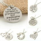 Family Necklace Pendant Gift Fashion Women Silve Heart Love Charm Chain Jewelry