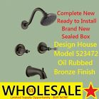 Design House 523472 Oakmont Oil Rubbed Bronze 2-Handle Faucet Tub and Shower NEW
