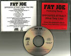 FAT JOE Opposites Attract 2 CLEAN TRX & INSTRUMENTAL & ACAPPELLA PROMO CD Single