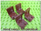 NEW Lego Minifig CHAIR / SEAT x4 Reddish Brown Boat/Train/Bus/Castle/Pirate/Ship