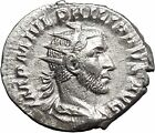 Philip I the Arab made display of generosity Silver Ancient Roman Coin i50001