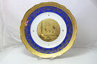 ST Bavaria Germany Royal Vienna Style Gold and Blue Plate, Dancing Fairies