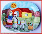 HUGE NINO PARRUCCA DESIMONE STYLE WOMAN WALL DECOR OVAL PLATTER ITALY 17 X14 WOW