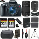 Canon EOS Rebel T5i Camera + 18 55mm IS Lens + 75 300mm + 64GB LOADED Bundle