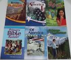 Abeka Books 5th  6th Grade Readers Lot of 7 Of America 1  2