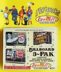 CLASSIC ROOFTOP BILLBOARDS 3-PAK KITS- BAR MILLS O/S/HO-SCALE-WOOD SUPPORTS #241