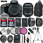 Nikon D5500 Digital SLR Camera +3 Lens 18 55mm VR II 64GB Great Saving Full Kit