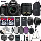 Nikon D3300 Digital SLR Camera +3 Lens 18 55mm VR + 64GB Great Saving Full Kit