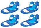 SwimWays Spring Float Recliner Pool Lounge Chair w Sun Canopy 4 Pack