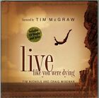 Live Like You Were Dying Tim McGraw NEW Hardcover Book  CD Gift Idea
