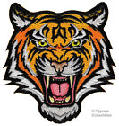 BENGAL TIGER iron on PATCH embroidered ROARING WILD ANIMAL SOUVENIR APPLIQUE new