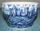 British Anchor England Olde Country Castles Blue Open Sugar Bowl - Very Good