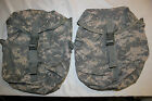 LOT OF 2  ORIGINAL US Military Issue MOLLE II SUSTAINMENT POUCH IN ACU CAMO