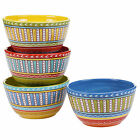 Certified International Valencia 5.25-inch Ice Cream Bowls (Set of 4) Assorted D