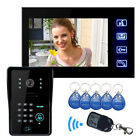 7 Wired Video Door Phone Doorbell Intercom System Touch Key Code Remote Control