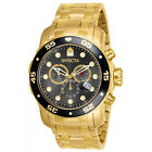 Invicta 80064 Mens Pro Diver Gold Plated Steel Chrono Dive Watch