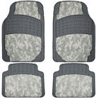 4pc Digital Hunting Camo Front Rear Rubber Camouflage Truck Floor Mats Set