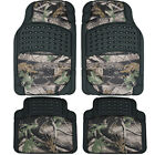 4pc Van Rubber Floor Mats Set Camouflage Jungle Forest Hunting Camo Universal