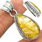 Golden Rutile 925 Sterling Silver Pendant Jewelry GRUP986